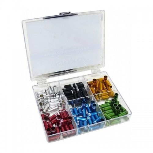 Cap camasa Quaxar, 5mm, aluminiu capsat, 6 culori amestecate/pachet