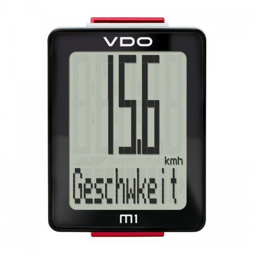 Computer de biciclete VDO M1 WR 5 functions sarma negru