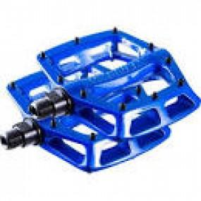 Pedale DMR V8 9/16 albastru neon
