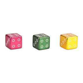 Capace ventil COX Dice Alu Mixed colors anodized