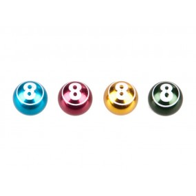 Capace ventil COX Ball-8 Alu ixed Colors Anodized