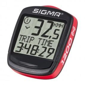Computer de biciclete Sigma sport Base 1200 WL fara fir negru rosu