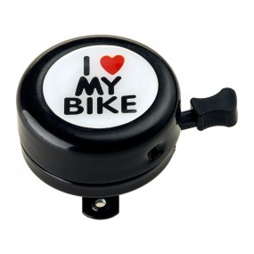 Sonerie RideFIT I love My bike 54mm Alumunium negru