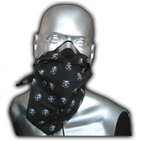 Bandit Scarf Skull negru